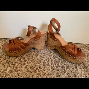 Mossimo cork wedge sandals